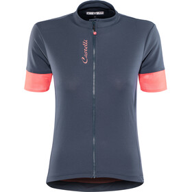Castelli Anima 2 FZ Jersey Women dark steel/blue/salmon